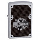 ZIPPO HARLEY DAVIDSON SATIN CHROME/CARBON FIBER LIGHTER