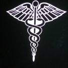 "Medical Caduceus Vinyl Logo 6 1/4"" High x 6 1/2"" Wide"