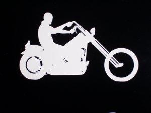 "Harley Chopper Vinyl Logo 4 1/4"" High x 1 1/4"" Wide"