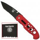 FIRE FIGHTER/FIREFIGHTER TACTICAL FOLDING POCKET KNIFE