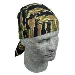 ZAN FLYDANNA HEADWRAP/DOO RAG/SKULL CAP TIGER CAMO