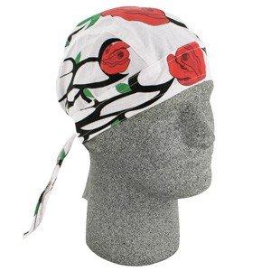 ZAN FLYDANNA HEAD WRAP/DOO RAG/SKULLCAP TRIBAL ROSE