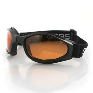 BOBSTER CROSSFIRE SMALL FOLDING GOGGLES AMBER LENS