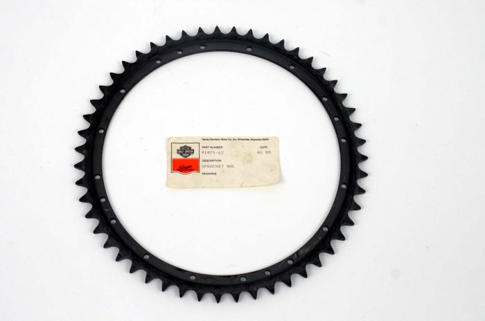 HARLEY VINTAGE REAR SPROCKET XL & BIG TWIN 52 - 78