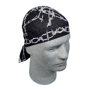 ZAN FLYDANNA HEAD WRAP/DOO RAG/SKULL CAP BARBED CHAINS