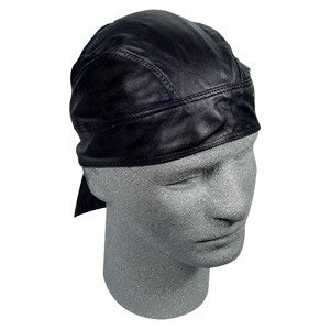 ZAN LEATHER FLYDANNA/HEAD WRAP/DOO RAG BLACK