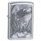 NEW ZIPPO BRUSHED CHROME HARLEY USA EAGLE/GLOBE LIGHTER