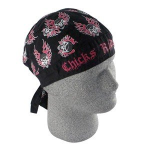ZAN FLYDANNA HEAD WRAP/DOO RAG/SKULLCAP CHICKS RIDE TOO