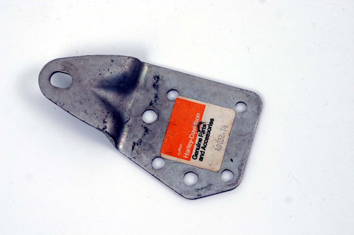 HARLEY LEFT SAFETY GUARD SUPPORT '74 - '77 VINTAGE FX