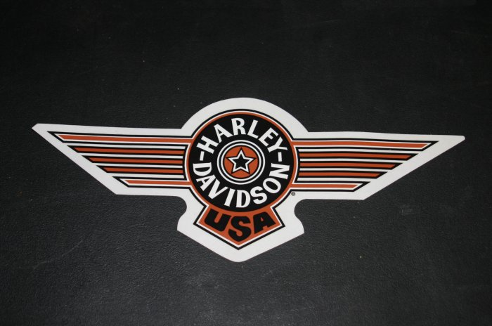 "HARLEY DAVIDSON USA DECAL 5.5"" HIGH X 14"" WIDE"