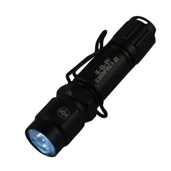 T.O.P. 4 COLOR LED ALUMINUM BLACK FLASHLIGHT GIFT BOX