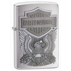 ZIPPO HARLEY DAVIDSON BRUSHED CHROME USA EAGLE LIGHTER