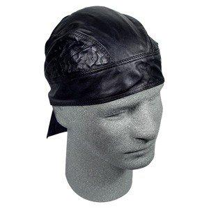ZAN LEATHER FLYDANNA/HEAD WRAP/DOO RAG VENTED BLACK