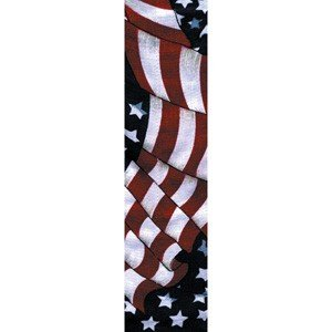 ZAN HEADGEAR 100% COTTON COOLDANNA WAVY AMERICAN FLAG