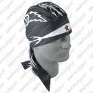 "ZAN DELUXE FLYDANNA HEAD WRAP/DOO RAG ""TRIBAL WINGS"""