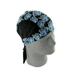 ZAN FLYDANNA HEADWRAP/DOO RAG/SKULLCAP BLUE ROSE