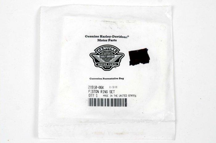 HARLEY OEM SINGLE PISTON RING SET 21910-06K