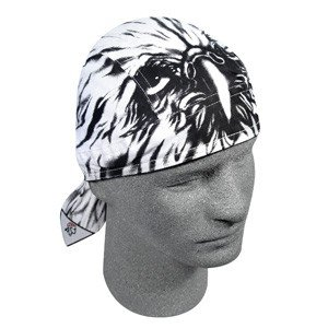 "ZAN ROAD HOG BIKER HEAD WRAP/DOO RAG ""AIRBRUSHED EAGLE"""