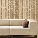 Wall Stencil Birch Forest - Allover wall pattern - Reusable stencil for DIY deco