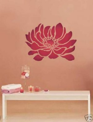 Flower stencil Anemone Grande LG, Reusable stencils better than decals