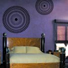 Wall Stencil Funky Wheel LG - Reusable Stencils for Easy DIY Decor