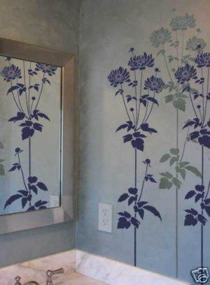Flower Stencil Garden Anemone - Reusable Stencils for easy wall decor