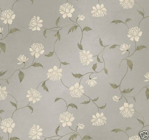 Wall Stencil Peony Allover - DIY Wall pattern stenciling not wallpaper