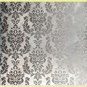 Wall Stencil Damask Verde, DIY Allover Stencil Pattern not Wallpaper