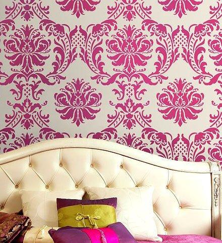 Damask Stencil Gabrielle, DIY Reusable stencils for wall, fabric deco