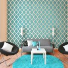 Moroccan Stencil Design Rabat LG, DIY Reusable stencils for wall decor