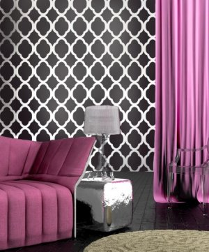 Wallpaper Stencil Rabat SM - Reusable wallpaper stencils for DIY decor