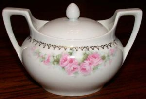 R.S. Germany Sugar Bowl with Lid