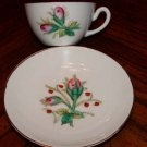 Rose Bud Cup and Saucer