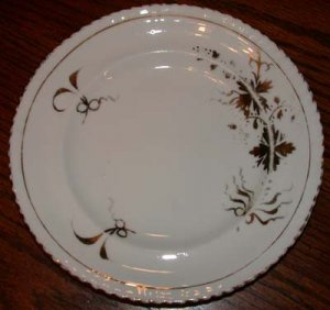 White Plate with Gold