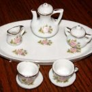 Miniature  Tea Set with Oval Tray Roses