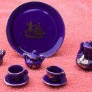Mini Tea Set Cobalt Blue  1875