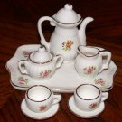 Miniature Tea Set Bone China Rose Design