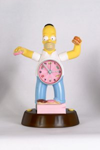 Homer Simpson animated alarm clock Homer moves, sings, and talks