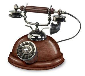 Crosley Capitol nostalgic corded Wooden Desk Phone telephone