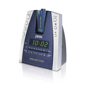 Projection Alarm Clock AM/FM radio Wake to music/buzzer