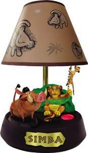 "Novelty ""Lion King"" animated, talking lamp Simba pulls the chain"