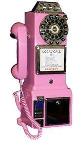 CROSLEY CR56 PINK Payphone 3 slot rotary pay phone CR-56