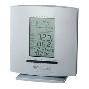 BAR888NA Cable Free Weather Forecaster w/ ExactSet Clock