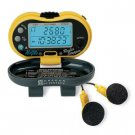 Digital Pedometer with FM Radio PE316FM Pedometer counts up to 99,999 steps
