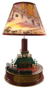 "KNG America Lionel animated train station lamp ""Lionelville"" 028791"