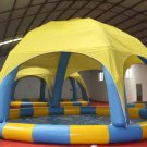 Inflatable Pool with Tent, Round Pool, Inflatable Pool, Swimming Pool