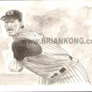 Randy Johnson: B&W Preliminary study sketch