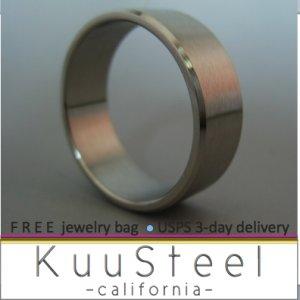 Plain Wedding Ring - Cutting Edge Design - Stainless Steel Plain Wedding Band #360