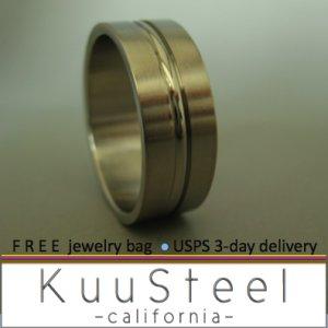 Plain Wedding Ring - Circle Line - Stainless Steel Plain Wedding Band#380