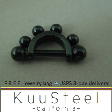 Cartilage ear piercing earring jewelry - cool black drops earrings - Eyebrow Ring